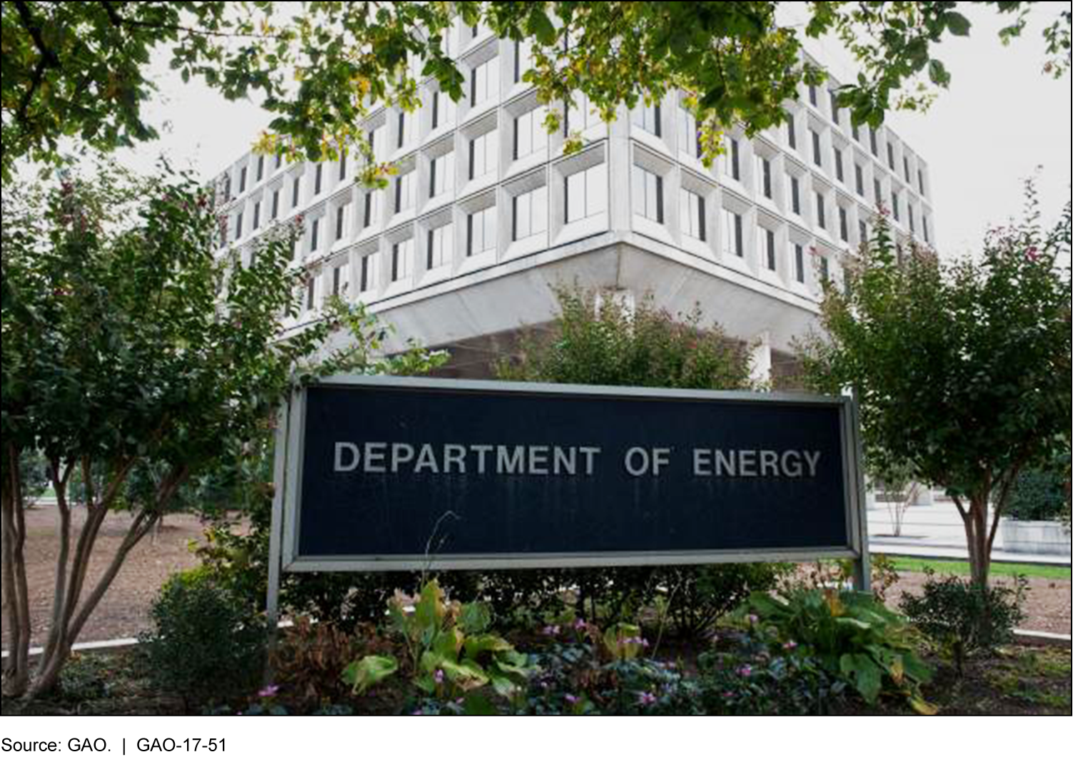 Picture of the Department of Energy building.