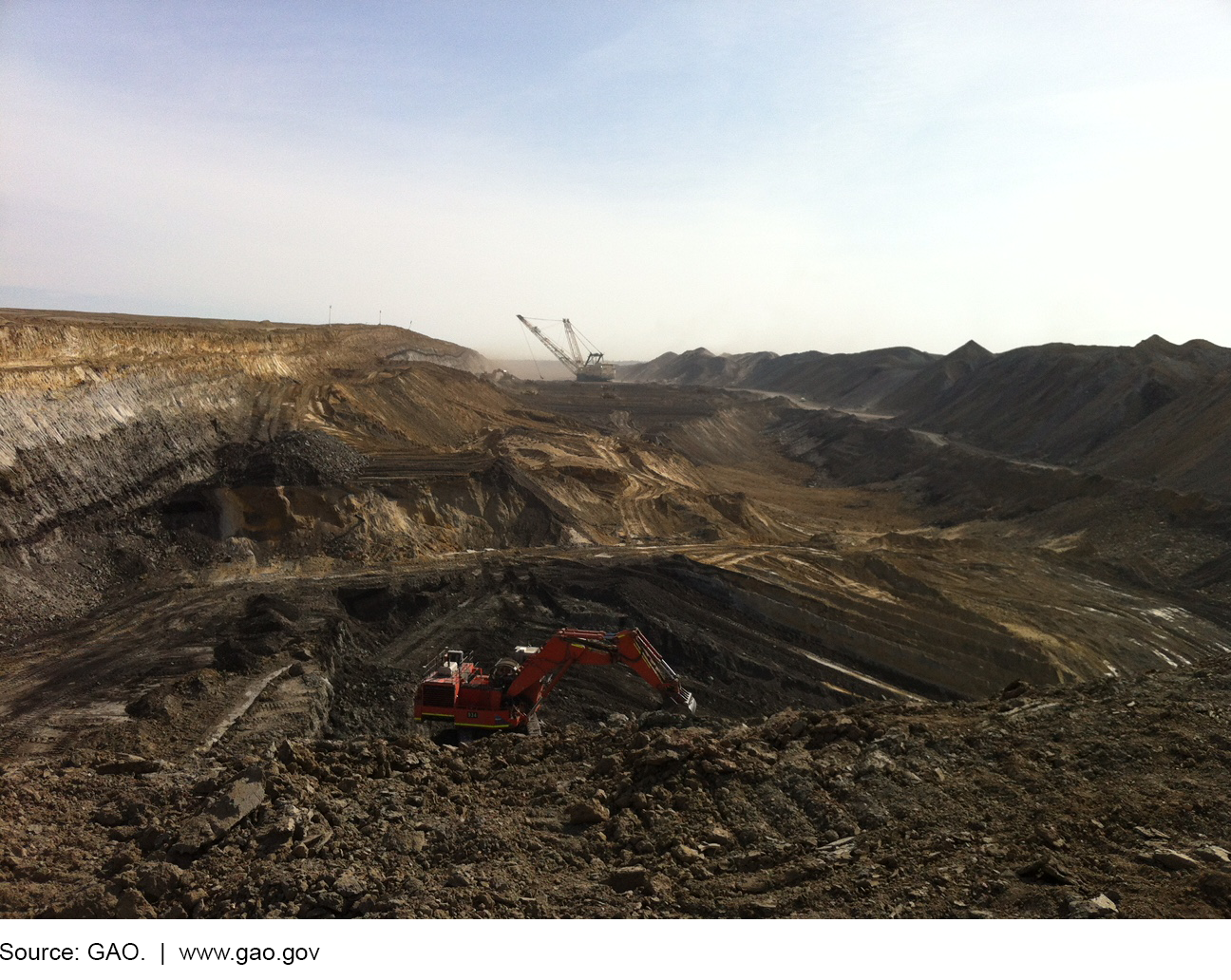 Photograph of surface coal mine