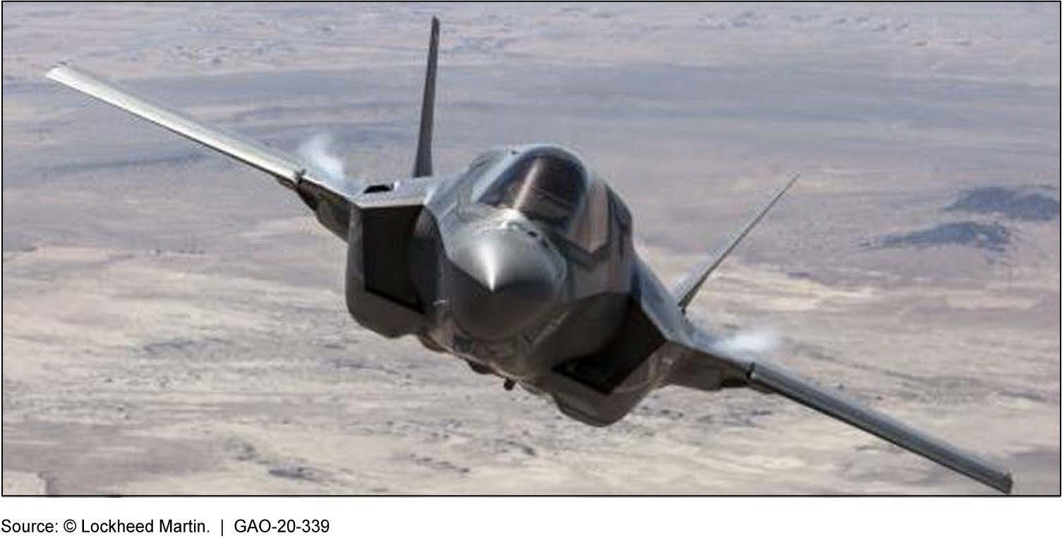 An F-35 in Flight over Edwards Air Force Base