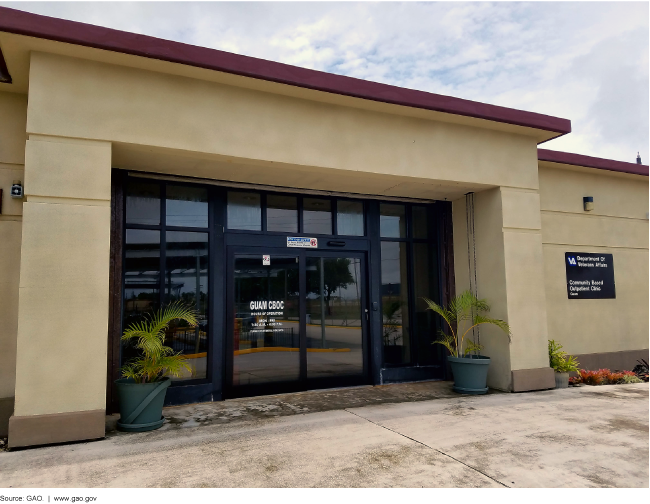 Photograph of the exterior of the VA community based outpatient clinic in Guam.
