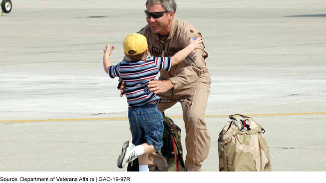 This photo shows a soldier in uniform embracing his child.
