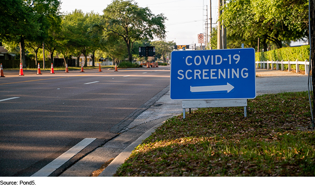 COVID-19 screening sign