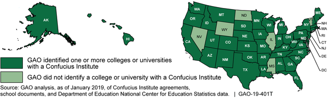Colleges and Universities across the United States Have Confucius Institutes on Campus