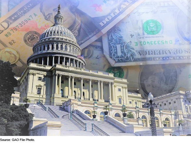 money and the U.S. Capitol
