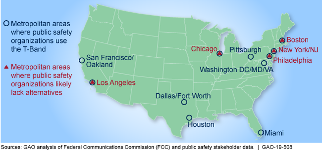 Map of the United States showing these areas