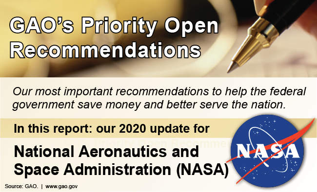 NASA priority recommendation graphic