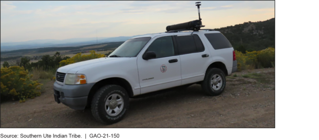 Mobile Methane Detection Equipment Funded by an Environmental Protection Agency Grant to the Southern Ute Indian Tribe