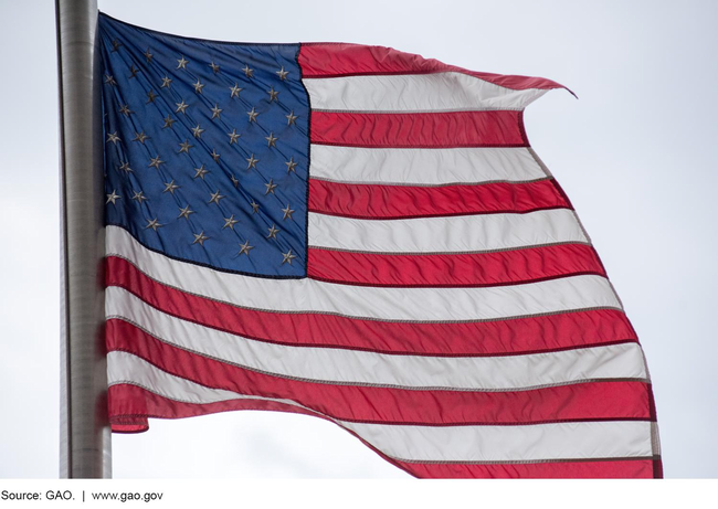 A photo of an American flag.
