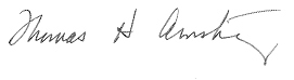 Thomas H. Armstrong's signature